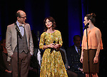 Jeff Blumenkrantz, Carmen Cusack and Emily Padgett  on stage during 'Bright Star' In Concert at Town Hall on December 12, 2016 in New York City.