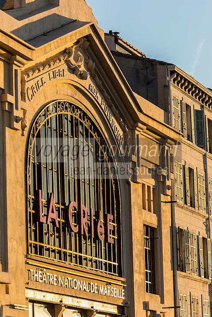 France, Bouches-du-Rhône (13), Marseille, capitale européenne de la culture 2013, le Vieux-Port, le théâtre de La Criée sur la quai Rive-Neuve // France, Bouches du Rhone, Marseille, european capital of culture 2013, le Vieux Port, La Criee theater on Quai de Rive Neuve