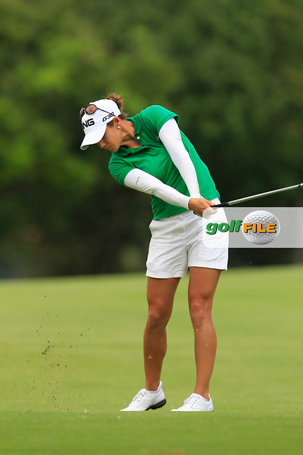 Azahara Munoz (ESP) on the 16th fairway during Round 3 of the HSBC Women's Champions at the Sentosa Golf Club, The Serapong Course in Singapore on Saturday 7th March 2015.<br /> Picture:  Thos Caffrey / www.golffile.ie
