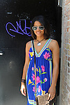 Frances Klick, 27, a fashion stylist on North Milwaukee in Wicker Park in Chicago, Illinois on June 20, 2009.