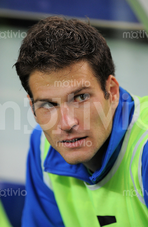 FUSSBALL INTERNATIONAL  EM 2012-Qualifikation  Gruppe D   11.10.2011 Frankreich - Bosnien-Herzegowina Torwart Asmir Begovic (Bosnien-Herzegowina)
