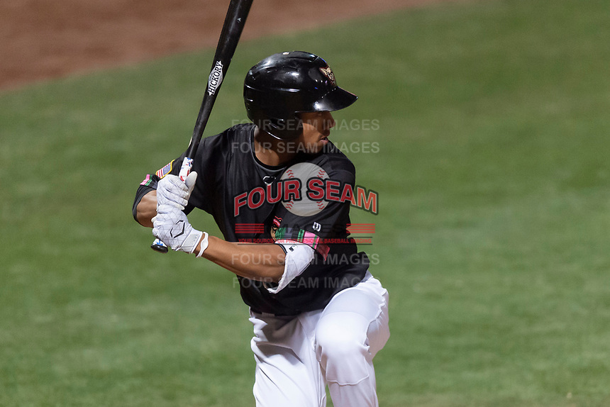 El Paso Chihuahuas pinch hitter Jacob Scavuzzo (10) during a Pacific Coast League game against the Albuquerque Isotopes at Southwest University Park on May 10, 2019 in El Paso, Texas. Albuquerque defeated El Paso 2-1. (Zachary Lucy/Four Seam Images)