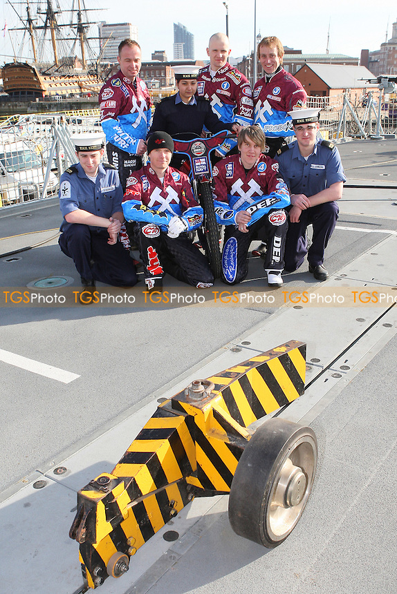 Lakeside Hammers Speedway team announce sponsorship by the Royal Navy for the 2010 season aboard HMS Kent in Portsmouth Dockyard - 02/03/10 - MANDATORY CREDIT: Gavin Ellis/TGSPHOTO - Self billing applies where appropriate - Tel: 0845 094 6026