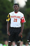 13 September 2013: Maryland's Chris Odoi-Atsem. The University of North Carolina Tar Heels hosted the University of Maryland Terrapins at Fetzer Field in Chapel Hill, NC in a 2013 NCAA Division I Men's Soccer match. The game ended in a 2-2 tie after two overtimes.