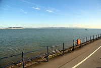 Swansea Bay as seen from Mumbles, Wales, UK. Friday 27 October 2017