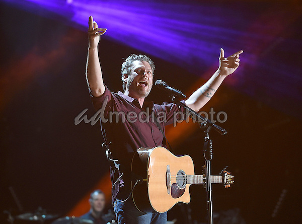 11 June 2016 - Nashville, Tennessee - Blake Shelton. 2016 CMA Music Festival Nightly Concert held at Nissan Stadium. Photo Credit: Laura Farr/AdMedia