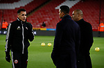 Ravel Morrison of Sheffield Utd  chats to Jermaine Jenas and Les Ferdinand during the Premier League match at Bramall Lane, Sheffield. Picture date: 5th December 2019. Picture credit should read: Simon Bellis/Sportimage