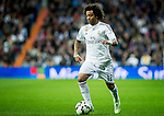 Real Madrid brazilian defender Marcelo during spanish league football match beetwen Real Madrid and Villarreal CF at the Santiago Bernabeu stadium in Madrid on march 01, 2015. Samuel de Roman / Photocall3000