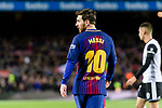 Lionel Messi of FC Barcelona during the Copa Del Rey 2017-18 match between FC Barcelona and Valencia CF at Camp Nou Stadium on 01 February 2018 in Barcelona, Spain. Photo by Vicens Gimenez / Power Sport Images