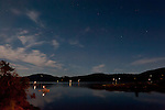 Night time from East Sound Orcas Island, San Juan Islands, Washignton
