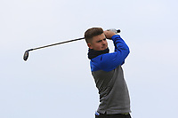 J G Cass (ENG) on the 1st tee during Round 1of the Flogas Irish Amateur Open Championship 2019 at the Co.Sligo Golf Club, Rosses Point, Sligo, Ireland. 16/05/19<br /> <br /> Picture: Thos Caffrey / Golffile<br /> <br /> All photos usage must carry mandatory copyright credit (© Golffile | Thos Caffrey)