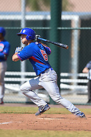 Chicago Cubs infielder Jason Vosler (6) during an Instructional League intersquad game on October 9, 2014 at Cubs Park Complex in Mesa, Arizona.  (Mike Janes/Four Seam Images)