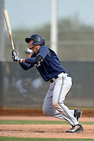 Milwaukee Brewers outfielder Elvis Rubio (81) during an Instructional League game against the Cincinnati Reds on October 6, 2014 at Maryvale Baseball Park Training Complex in Phoenix, Arizona.  (Mike Janes/Four Seam Images)