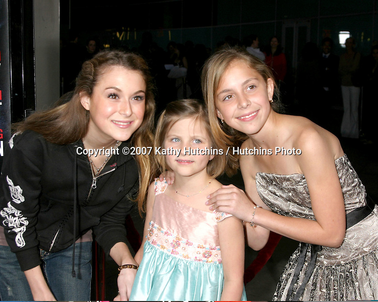 "Alexa Vega, Thier sister Greylin, and Makenzie Vega.""In The Land of Women"" LA Premiere.Cimerama Dome.ArcLight Hollywood.Los Angeles, CA.April 16, 2007.©2007 Kathy Hutchins / Hutchins Photo...."