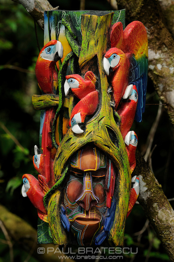 Boruca Mask, Costa Rica<br /> <br /> The Boruca who are also known as the Brunca or the Brunka are a tribe of indigenous people living in Costa Rica. The indigenous peoples of the Americas are the pre-Columbian inhabitants of the Americas, their descendants, and many ethnic groups who identify with those peoples. They are often also referred to as Native Americans.<br /> They are best known for masks made for the &quot;Fiesta de los Diablitos&quot; (or &quot;Danza de los Diablitos&quot;). The masks, depicting stylized devil faces, are worn by the men of Boruca during the fiesta. The masks are usually made of balsa wood or sometimes cedar, and may be painted or left natural.