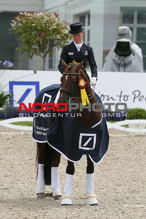 07.07.2012, Soers, Aachen, GER, CHIO, D9 Deutsche Bank Preis Dressur, im Bild<br /> Helen LANGEHANENBERG of Team Germany on DAMON HILL NRW during the Deutsche Bank Preis of Aachen 2012  / Winner <br /> <br /> // during the dressage price of Deutsche Bank on 2012/07/07, Soers, Aachen, Germany. Foto &copy; nph / Mueller