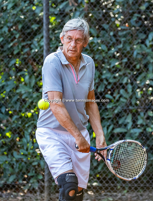 Hilversum, The Netherlands, September 2, 2018,  Tulip Tennis Center, NKS, National Championships Seniors, Men's 70+ final: Hans Adama Van Scheltema (NED) <br /> Photo: Tennisimages/Henk Koster