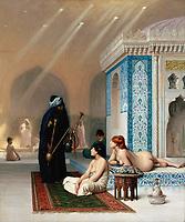 Gérôme, Jean-Léon - Pool in a Harem