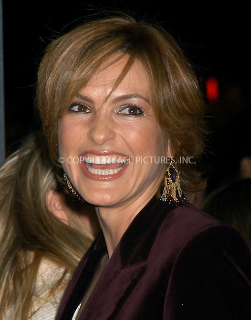 Mariska Hargitay at the premiere of 'Secret Window' in New York, March 7, 2004. Please byline: AJ SOKALNER/ACE Pictures.   ..*PAY-PER-USE*      ....IMPORTANT: Please note that our old trade name, NEW YORK PHOTO PRESS (NYPP), is replaced by new name, ACE PICTURES. New York Photo Press and ACE Pictures are owned by All Celebrity Entertainment, Inc.......All Celebrity Entertainment, Inc:  ..contact: Alecsey Boldeskul (646) 267-6913 ..Philip Vaughan (646) 769-0430..e-mail: info@nyphotopress.com