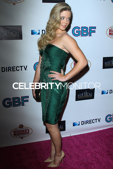 "HOLLYWOOD, CA - NOVEMBER 19: Sasha Pieterse arriving at the ""G.B.F."" Los Angeles Premiere held at the Chinese 6 Theater Hollywood on November 19, 2013 in Hollywood, California. (Photo by David Acosta/Celebrity Monitor)"