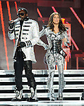 "Will.i.am & Stacy Ferguson aka Fergie of The Black Eyed Peas performs live at Staples Center as part of their ""The E.N.D. Tour"" in Los Angeles, California on March 29,2010                                                                   Copyright 2010  DVS / RockinExposures"