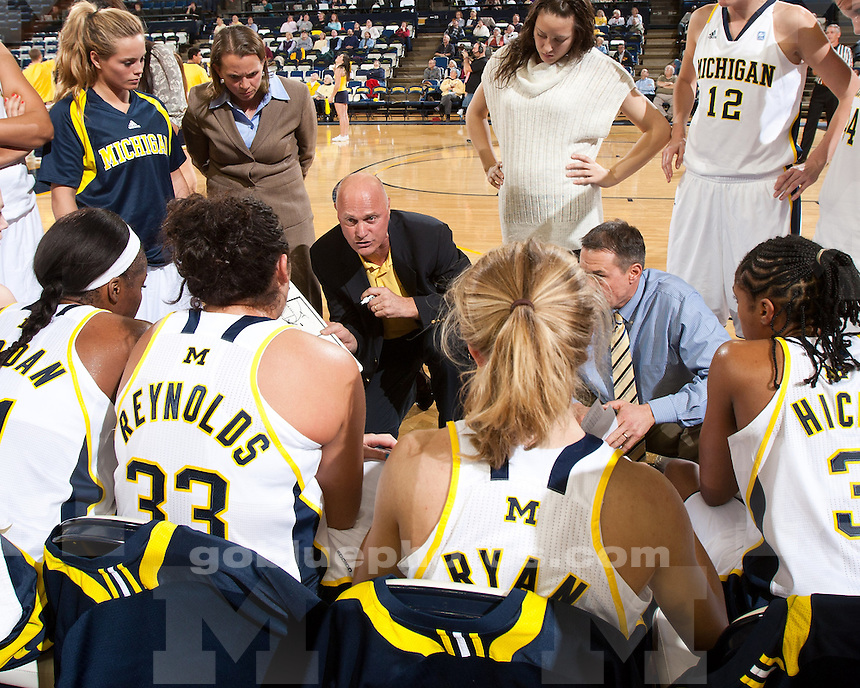 University of Michigan women's basketball 91-58 victory over  Wake Forest in the ACC-Big Ten Challenge at Crisler Arena in Ann Arbor, MI, on Dec. 1, 2010.
