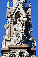 King Edward The Confessor statue on Westminster School Memorial, London, United Kingdom