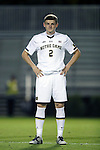 21 October 2016: Notre Dame's Tommy McCabe. The Duke University Blue Devils hosted the University of Notre Dame Fighting Irish at Koskinen Stadium in Durham, North Carolina in a 2016 NCAA Division I Men's Soccer match. Duke won the game 2-1 in two overtimes.
