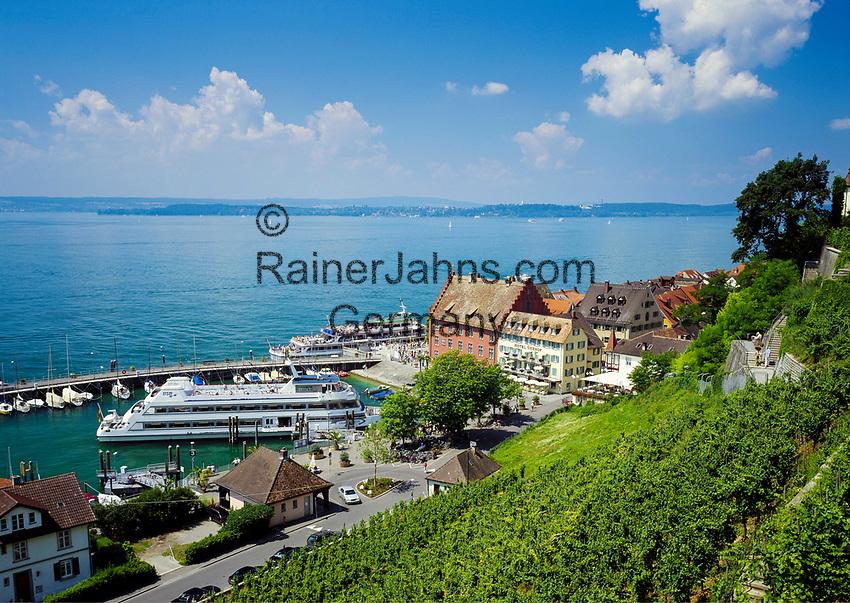 Deutschland, Baden-Wuerttemberg, Bodensee, Meersburg: Schiffsanlegestelle in der Unterstadt | Germany, Baden-Wuerttemberg, Lake Constance, Meersburg: ship landing-stage