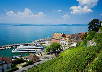 Deutschland, Baden-Wuerttemberg, Bodensee, Meersburg: Schiffsanlegestelle in der Unterstadt | Germany, Baden-Wuerttemberg, Lake Constance, Meersburg: ship landing-stage