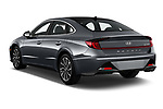 Car pictures of rear three quarter view of 2020 Hyundai Sonata Limited 4 Door Sedan Angular Rear