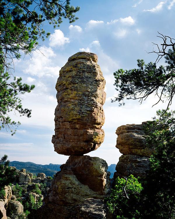 Balanced Rock in Heart of Rocks; Chiricahua National Monument, AZ