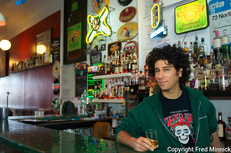 The Haymarket Whiskey Bar in Louisville, Ky., carries more than 100 whiskies and is owned by Matthew Landan.