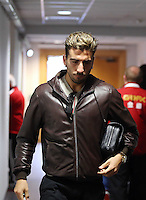 Wednesday, 23 April 2014<br /> Pictured: Chico Flores arriving.<br /> Re: Swansea City FC are holding an open training session for their supporters at the Liberty Stadium, south Wales,