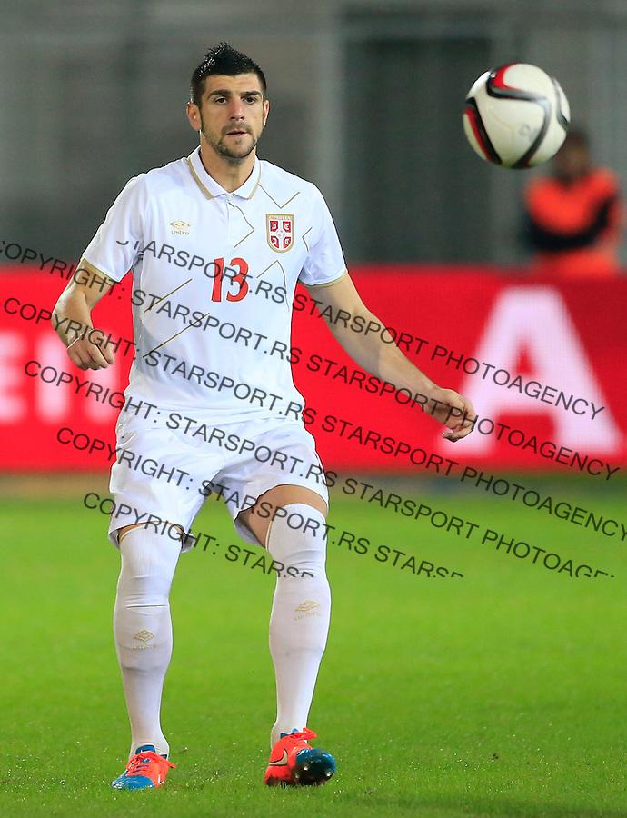Fudbal<br /> Prijateljski mec-Friendly match<br /> Srbija v Grcka<br /> Stefan Mitrovic<br /> Chania, 17.11.2014.<br /> foto: Srdjan Stevanovic/Starsportphoto &copy;