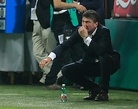 Walter Mazzarri  during the Italian serie A   soccer match between SSC Napoli and Inter    at  the San Siro    stadium in Milan  Italy , Octoberr 19 , 2014