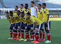Futbol-Copa Sudamericana Sub-20 Brasil vs Colombia MONTEVIDEO,URUGUAY Ð Febrero 7:Detalles,en el encuentro de la Copa Sudamericana Sub-20 jugado en el Estadio Centenario,7 de Febrero del 2015 en Montevideo,Uruguay.(Photo by Andres Gomensoro-Photosportt)....................................................