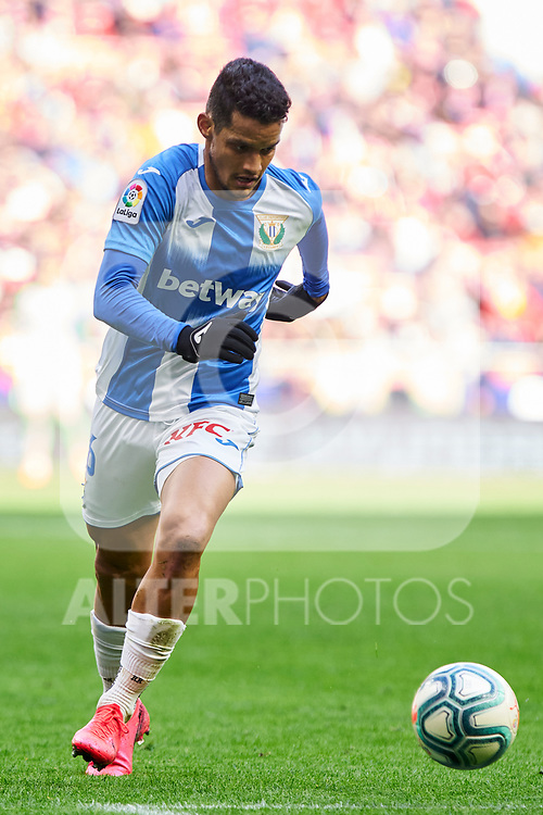 Roberto Rosales of CD Leganes during La Liga match between Atletico de Madrid and CD Leganes at Wanda Metropolitano Stadium in Madrid, Spain. January 26, 2020. (ALTERPHOTOS/A. Perez Meca)