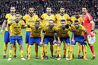 Juventus line up before Tottenham Hotspur vs Juventus, UEFA Champions League Football at Wembley Stadium on 7th March 2018