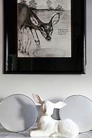 black painting frame