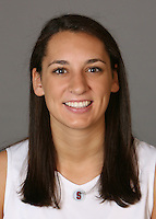 STANFORD, CA - SEPTEMBER 28:  Ashley Cimino of the Stanford Cardinal women's basketball team poses for a headshot on September 28, 2009 in Stanford, California.