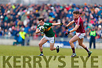 Paul Murphy Kerry in action against Shane Walsh Galway in the Allianz Football League Division 1 Round 4 match between Kerry and Galway at Austin Stack Park, Tralee, Co. Kerry.