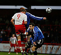 Charlie Griffin of Stevenage Borough scores their third goal during the Blue Square Premier match between Stevenage Borough and Gateshead at the Lamex Stadium, Broadhall Way, Stevenage on Saturday 14th November, 2009  .© Kevin Coleman 2009
