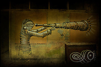Painting by artist Phlegm in abandoned building in Sheffield, South Yorkshire http://www.vivecakohphotography.co.uk/2011/07/24/phlegm-in-sheffield/