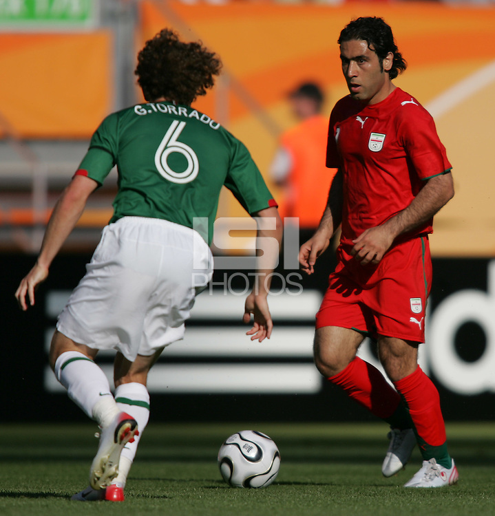 Iran's Mehdi Mahdavikia. Mexico defeated Iran 3-1 during a FIFA World Cup Group D match at Franken-Stadion, Nuremberg, Germany on Sunday June 11, 2006.