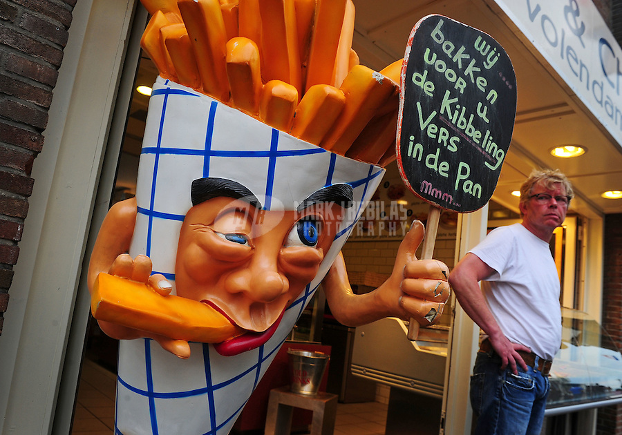 Amsterdam Netherlands Holland fast food mascot french fries smoking cartoon city