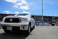 Apr. 1, 2012; Las Vegas, NV, USA: NHRA top fuel dragster driver Antron Brown during the Summitracing.com Nationals at The Strip in Las Vegas. Mandatory Credit: Mark J. Rebilas-
