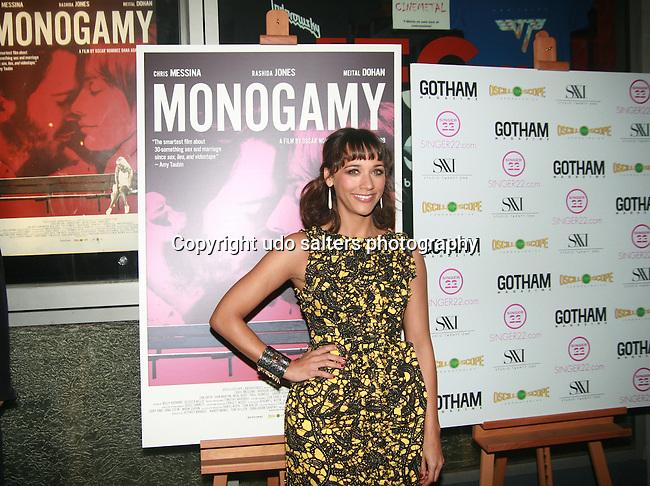Actress Rashida Jones Attends Oscilloscope Pictures Presents the Gotham Magazine New York Special Screening of Monogamy starring Rashida Jones and Chris Messina at the IFC Center, New York 3/7/11