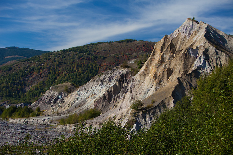 National Geographic Sea Lion's Mt. St. Helens Volcano day trip and hike.  Hummocks, formed by the debris flow from the eruption in 1980.