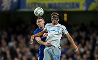 Gary Cahill of Chelsea & Dominic Calvert-Lewin of Everton during the Carabao Cup round of 16 match between Chelsea and Everton at Stamford Bridge, London, England on 25 October 2017. Photo by Andy Rowland.